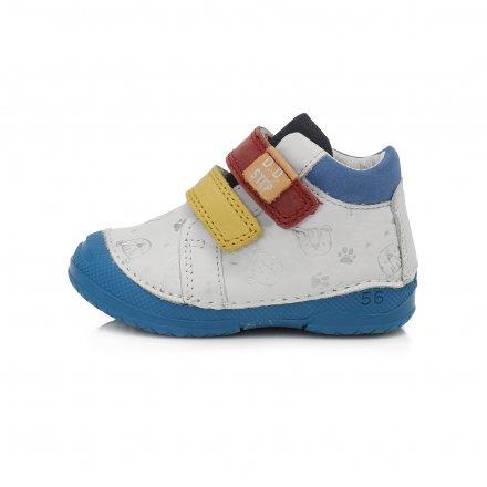 Chlapčenské kožené prechodné topánky-White
