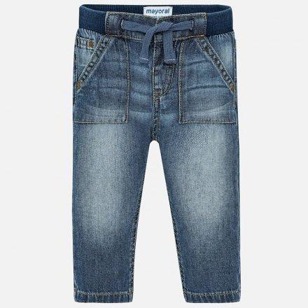 Chlapčenské nohavice z mäkkej  rifloviny