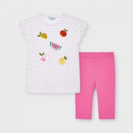 Dievčenská letná súprava tričko s flitrami a legíny