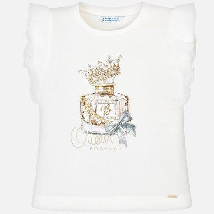 Dievčenské tričko bez rukávov s ozdobným volánikom