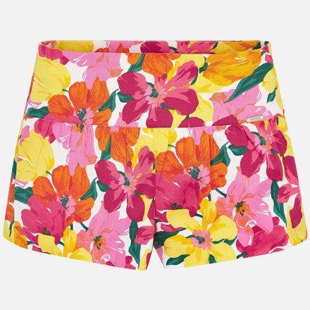 Dievčenské šortky s kvetinkami