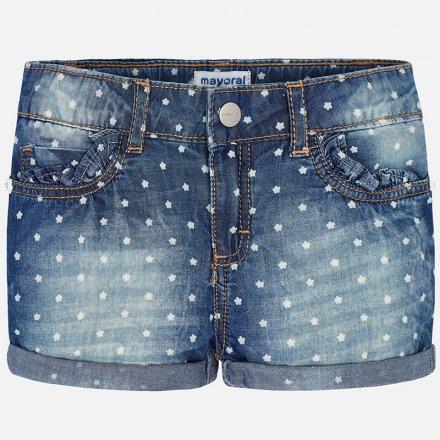 Dievčenské šortky z mäkkej rifloviny