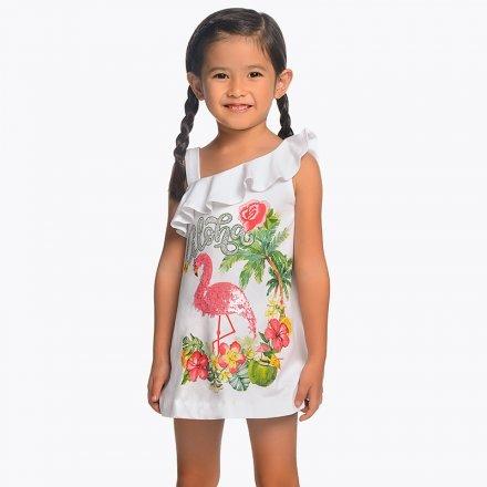 Dievčenské asymertické letné šaty