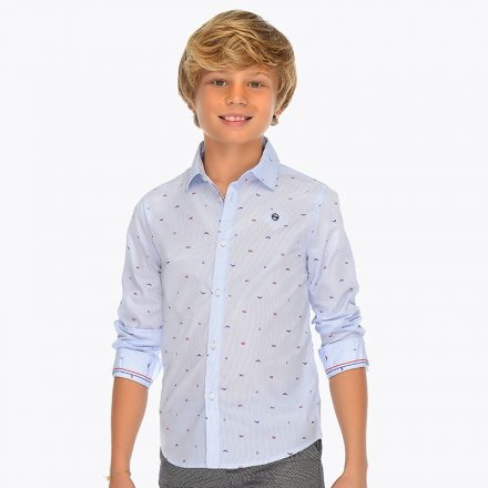 Pruhovaná košeľa s drobným vzorom