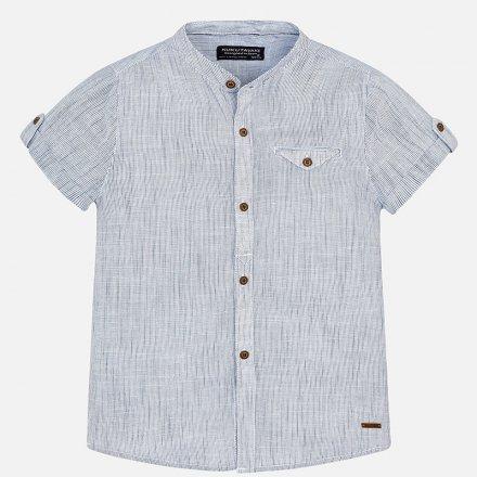 Košeľa bez goliera s krátkym rukávom