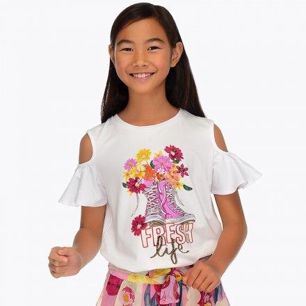 Dievčenské tričko s otvorenými ramenami