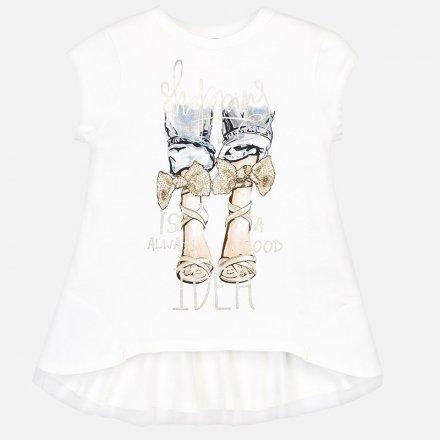 Dievčenské tričko s krátkym rukávom a s volánikom