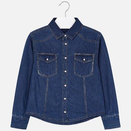 Dievčenská košeľa z mäkkej rifloviny