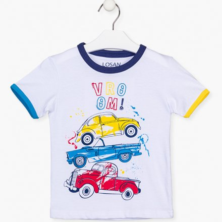 Chlapčenské tričko s krátkym rukávom a farebnou potlačou
