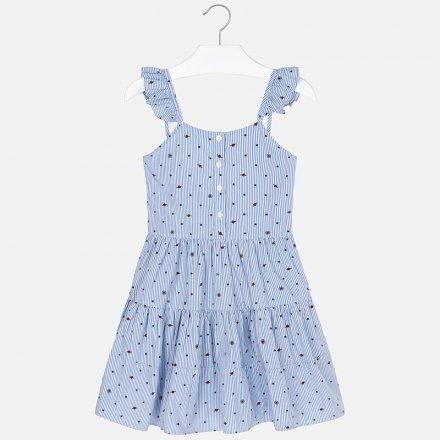 Dievčenské letné šaty bez ramienok