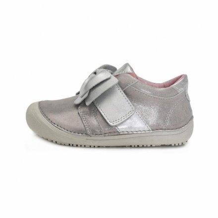 Dievčenské kožené prechodné topánky-Light Grey