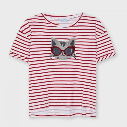 Dievčenské tričko s krátkym rukávom zdobená  flitrami