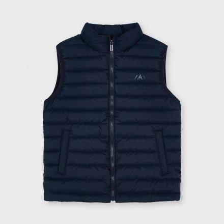 Chlapčenská prešívaná vesta bez kapucne