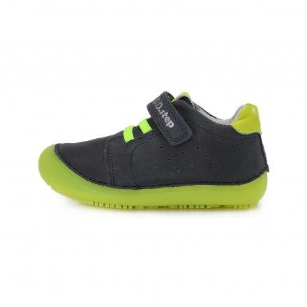 Chlapčenské kožené prechodné BAREFEET topánky-Royal Blue