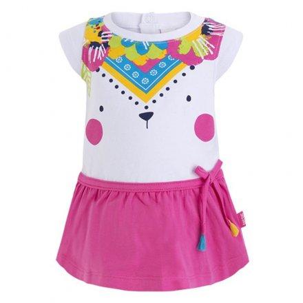 Dievčenské letné šaty s krátkym rukávom
