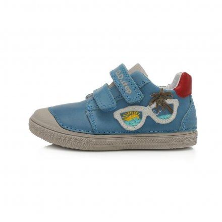 Chlapčenské kožené prechodné topánky -Bermuda Blue