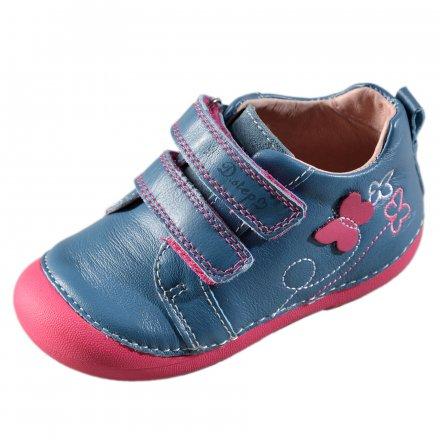 Dievčenské kožené prechodné topánky-Calypso sky