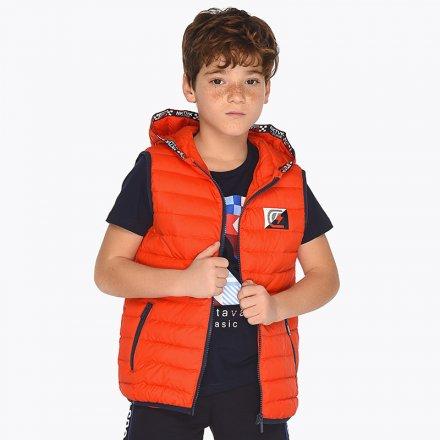 Chlapčenská vesta s kapucňou