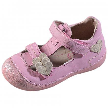 Dievčenské kožené polotopánky-Baby Pink