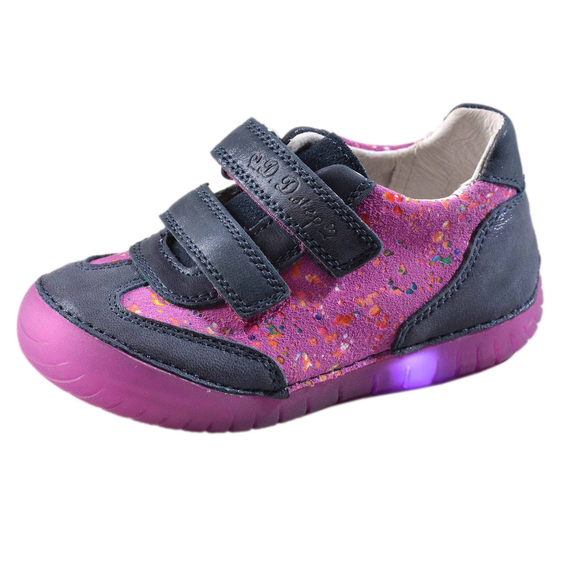 47140e068beca Dievčenské kožené blikajúce topánky-Violet DDstep - 050-4BM ...