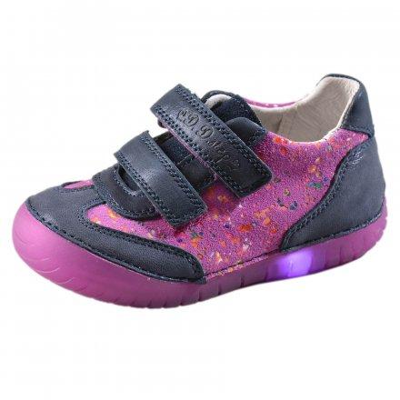 Dievčenské  kožené blikajúce topánky-Violet