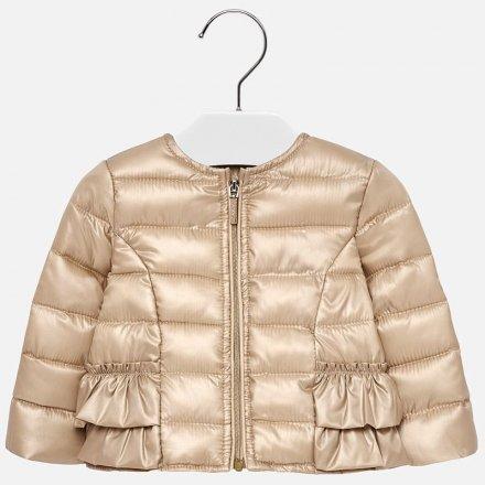 Dievčenský prechodný kabátik bez kapucne