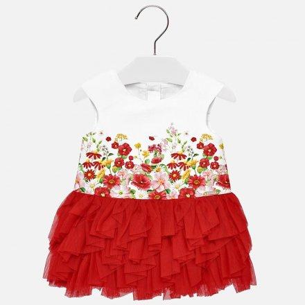 Dievčenské letné šaty s tylovou sukňou
