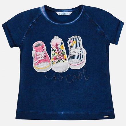 Dievčenské tričko s krátkym so strašom