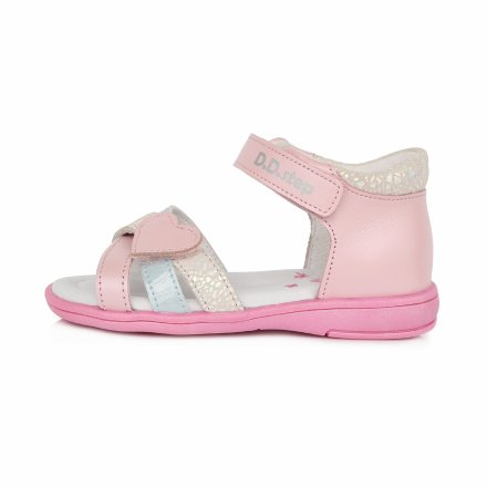 Dievčenské kožené sandále- Daisy Pink