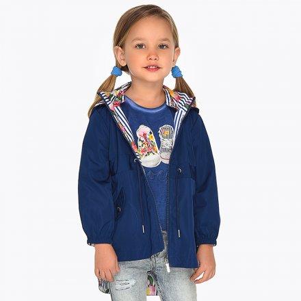Dievčenská obojstranná vetrovka s kapucňou