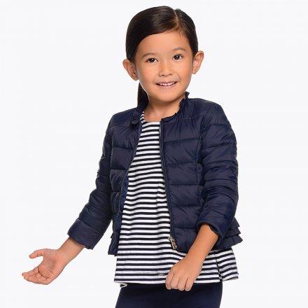 Dievčenská prechodný kabát bez kapucne