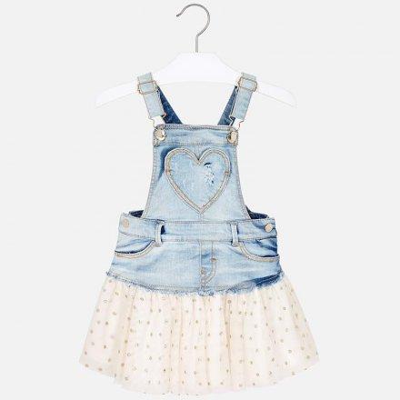 Dievčenská  kombinovaná sukňa na traky