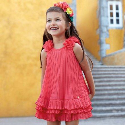 Dievčenské plisované letné šaty bez rukávov