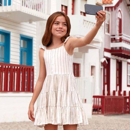 Dievčenské pruhované letné šaty