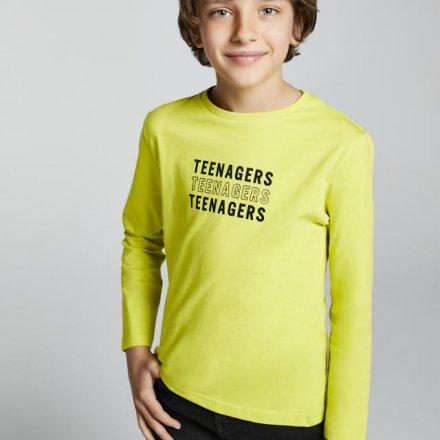 Chlapčenské tričko s dlhým rukávom a nápisom
