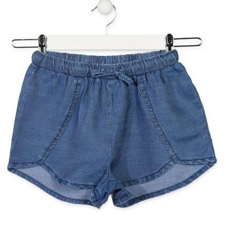 Dievčenské šortky z mäkkej rifľoviny