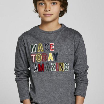 Chlapčenské tričko s dlhým rukávom a s nápisom