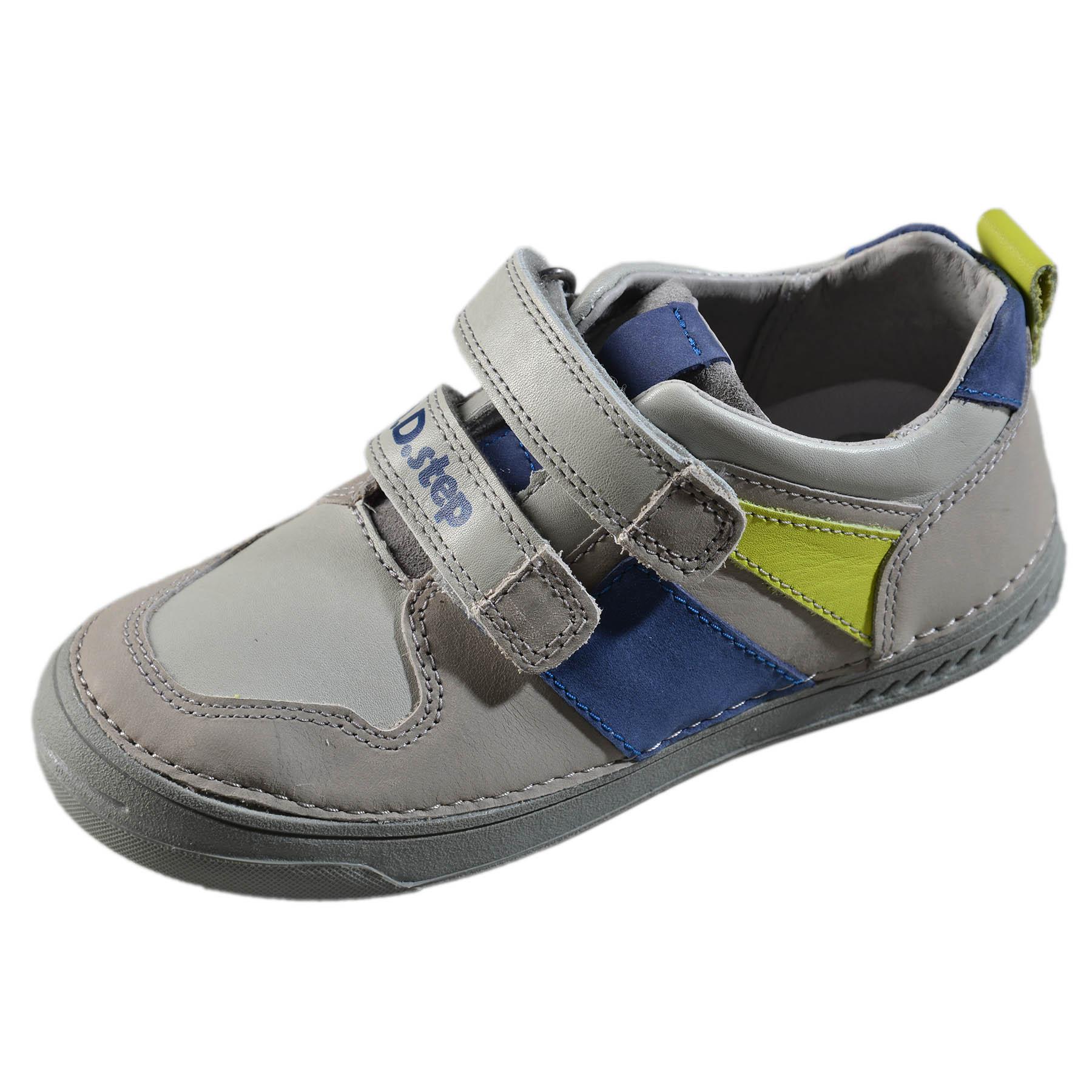 1ed79f117 Chlapčenské kožené prechodné topánky-Grey DDstep - 040-435M ...