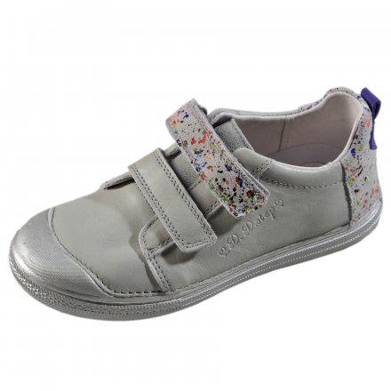 Dievčenské prechodné kožené topánky-Silver