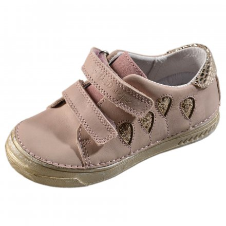 Dievčenské kožené prechodné topánky-Pink