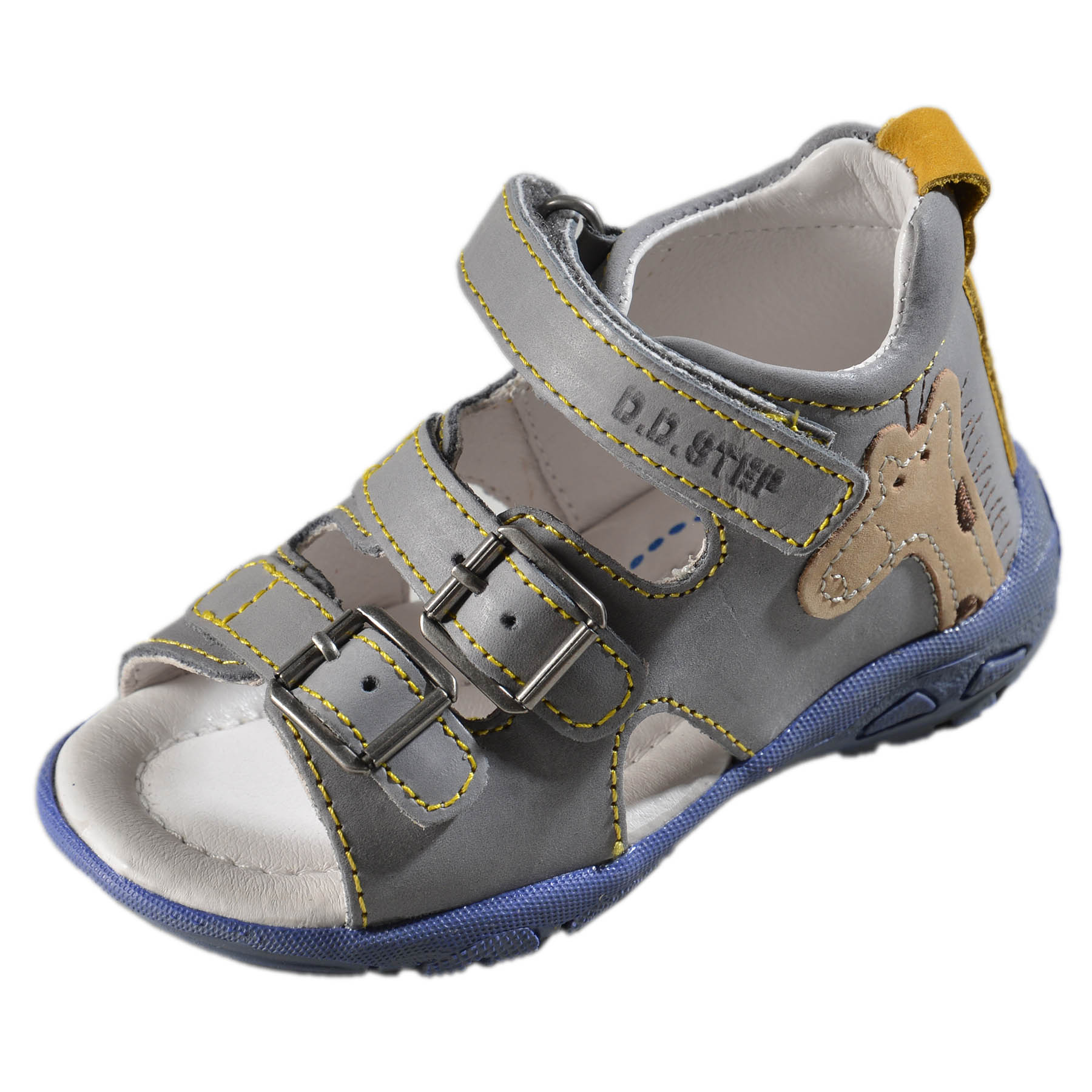9f07c94d9c5e Chlapčenské kožené sandále-Grey DDstep - AC290-7025B