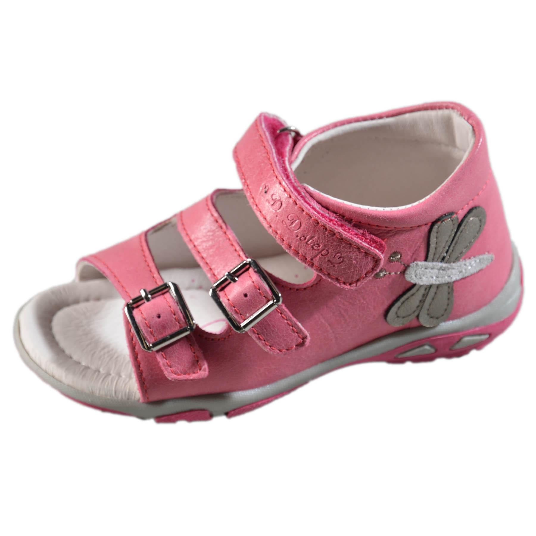 e9fcfa573037 Dievčenské kožené sandále-Dark Pink DDstep - AC290-7042DM ...