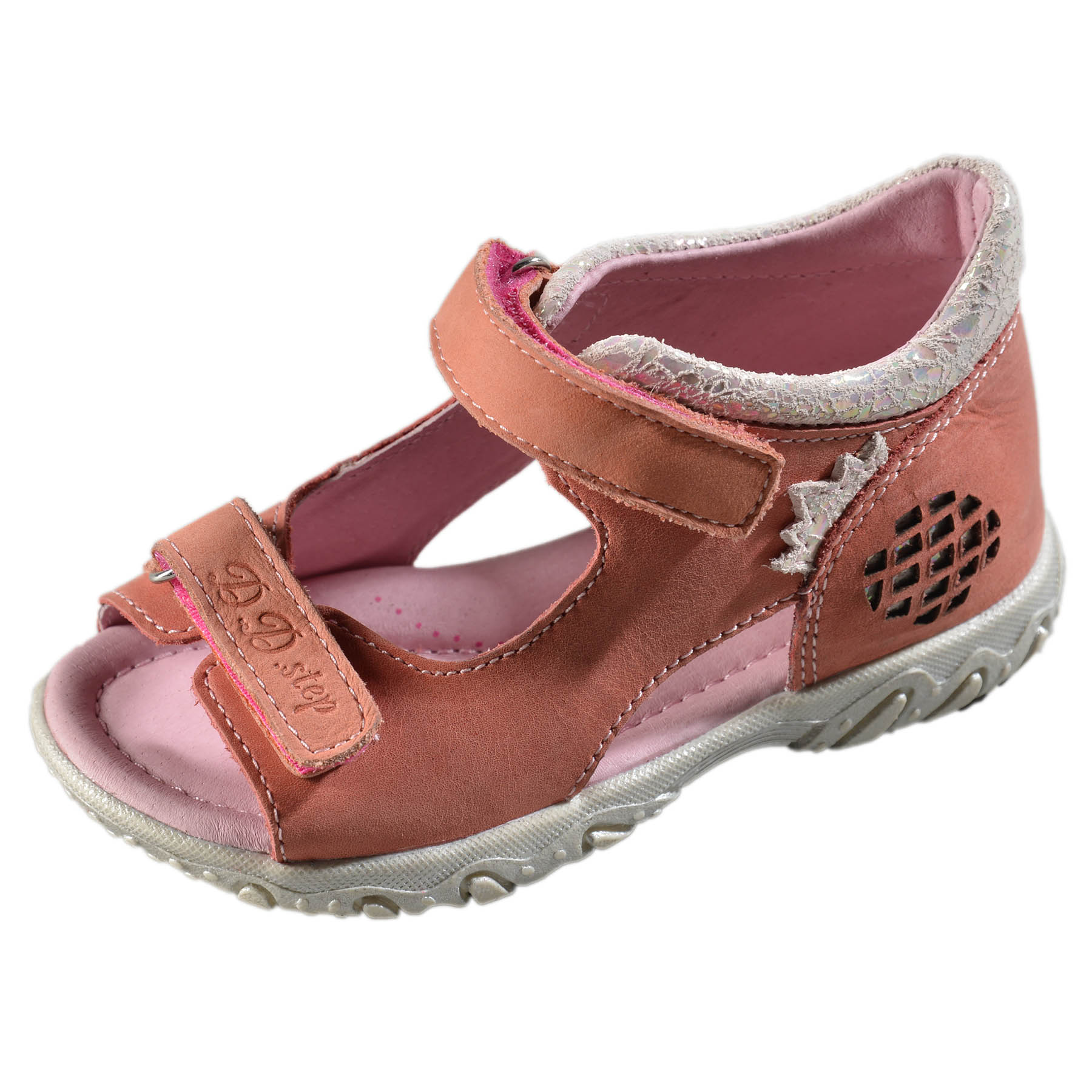 e71aa7630a91 Dievčenské kožené sandále-Pink DDstep - AC625-5014AM