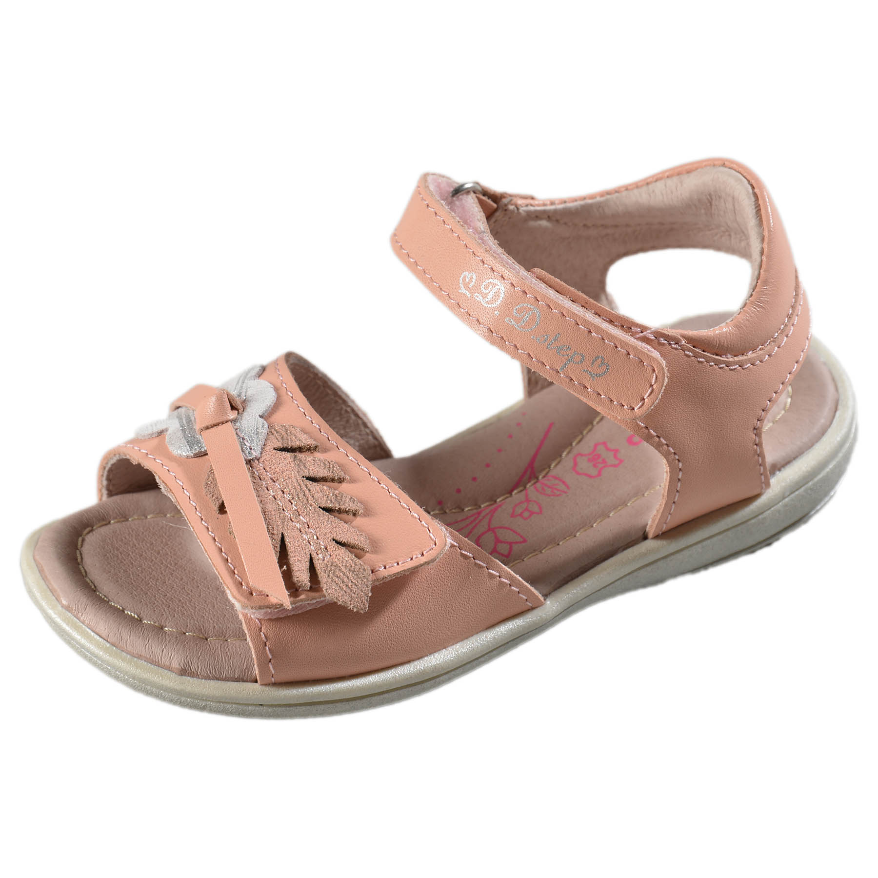da76a5c93b Dievčenské kožené sandále-Pink DDstep - K03-3009AM