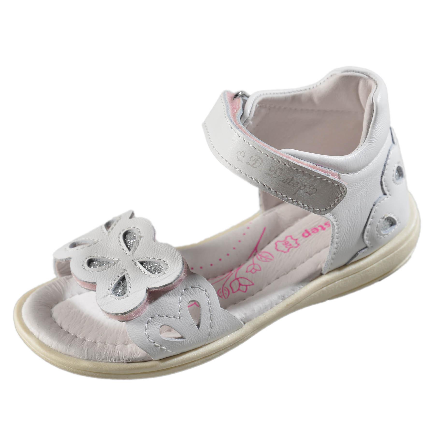 81d3b33c56 Dievčenské kožené sandále-White DDstep - K03-3008ML