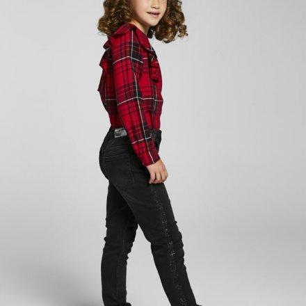 Dievčenské riflové nohavice s kamienkami