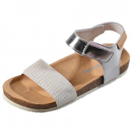 Dievčenské korkové sandále-White
