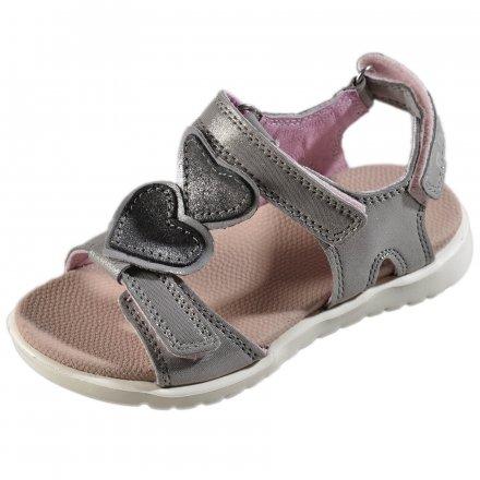 Dievčenské kožené sandále-Silver -Extra ľahké