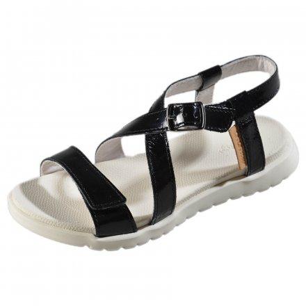 Dievčenské kožené sandále-Black-Extra ľahké